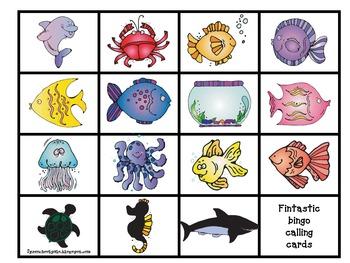"""Under the Sea """"Fin""""tastic Bingo"""