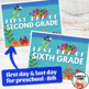 Under the Sea First Day Signs, Printable 1st Day of School Sign 2019-20