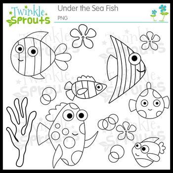 Under the Sea Fish Clipart