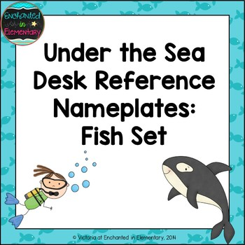 Under the Sea Fish Desk Reference Nameplates