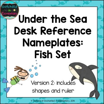 Under the Sea Fish Desk Reference Nameplates Version 2