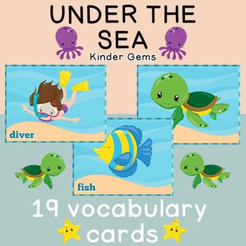 Under the Sea Flash Cards Instant Download PDF; Preschool, Kindergarten, School
