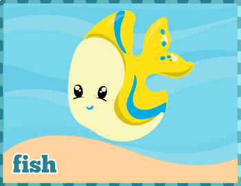Under the Sea Flash Cards; Kindergarten; Preschool; Homeschool; Bulletin Board