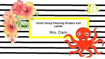 Under the Sea Floral Binder Covers