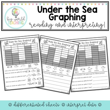 Under the Sea Graphing - Reading Graphs