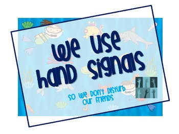Hand Signals- Under the Sea Theme