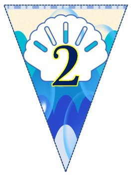 Under the Sea Hanging Numbers 1-20 Flags for Classroom Theme Printables