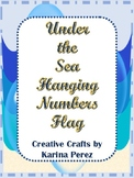 Under the Sea Hanging Numbers 1-20 Flags for Classroom The