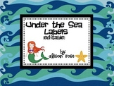 Under the Sea Labels-editable