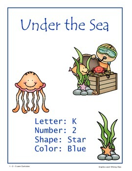 Under the Sea Lesson Plan with ECIPs - Week 1