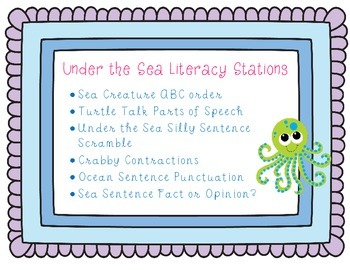 Under the Sea Literacy Centers