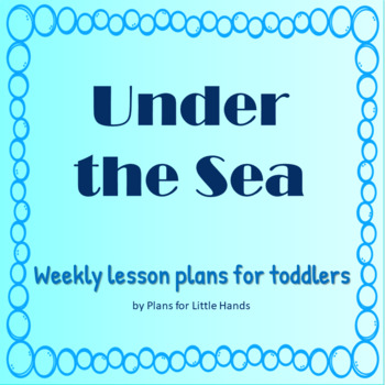 Under the Sea Weekly Lesson Plan