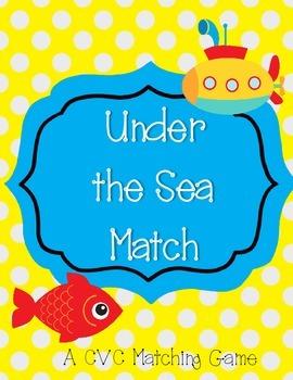 Under the Sea Match - CVC Rhyme Game