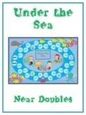 Under the Sea Math Folder Game - Common Core - Adding Near Doubles