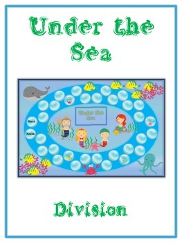 Under the Sea Math Folder Game - Common Core - Division - Dividing Numbers