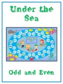 Under the Sea Math Folder Game - Common Core - Even and Od