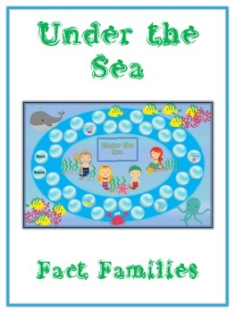 Under the Sea Math Folder Game - Common Core - Fact Families