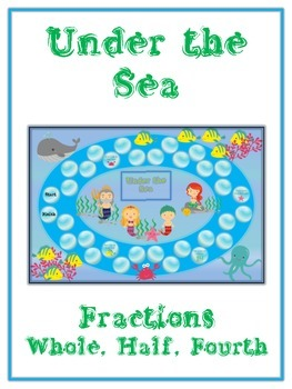 Under the Sea Math Folder Game - Common Core - Fractions