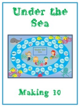 Under the Sea Math Folder Game - Common Core - Making Ten