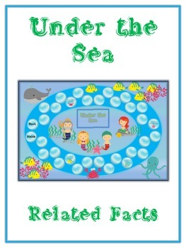 Under the Sea Math Folder Game - Common Core - Related Facts