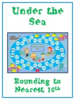 Under the Sea Math Folder Game - Common Core - Rounding to Nearest 10th