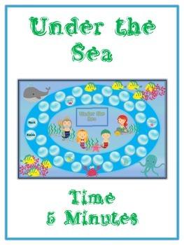 Under the Sea Math Folder Game - Common Core - Telling Tim