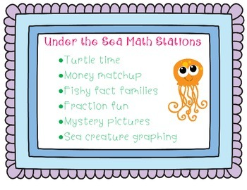 Under the Sea Math Stations