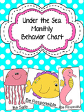 Under the Sea Monthly Behavior Charts (Editable)