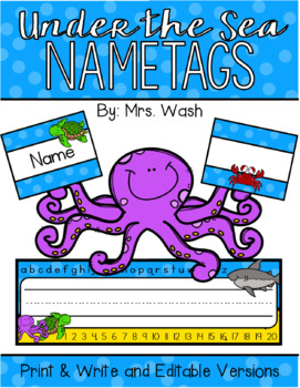 Under the Sea Nametags