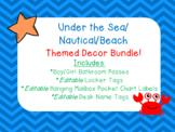 Under the Sea/Nautical/Beach Themed Decor Bundle!