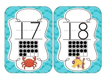 Under the Sea Number Cards 1-20