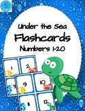 Under the Sea Number Flachcards. Numbers 1-20