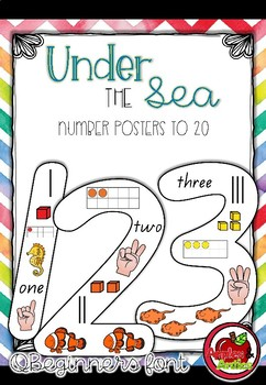 Under the Sea Number Posters
