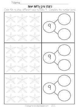 Under the Sea Number Sense Activity Set Aligned to the CCSS