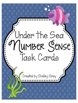 """Under the Sea"" Number Sense Task Cards"