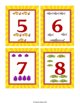 Under the Sea Number War! A fun way to learn the numbers 1-10.
