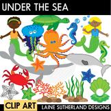 Under the Sea Ocean Animals Clip Art