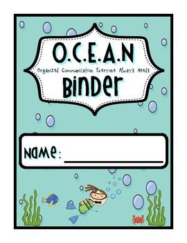 Under the Sea: Ocean Binder Cover