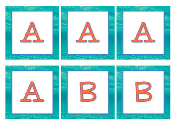 Under the Sea Ocean Boggle Letters