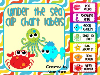 Under the Sea Ocean Clip Chart Labels {CUSTOM} Positive Be