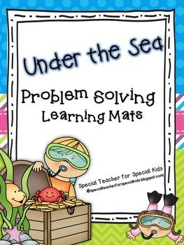 Under the Sea-- Ocean Interactive Problem Solving Math Mats