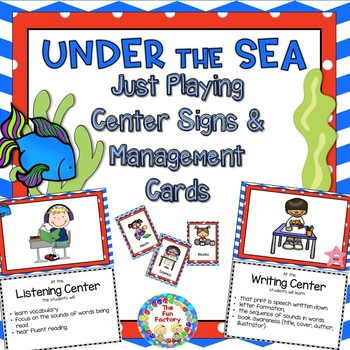 Under the Sea – Ocean Just Playing Center Signs and Editable Management Cards