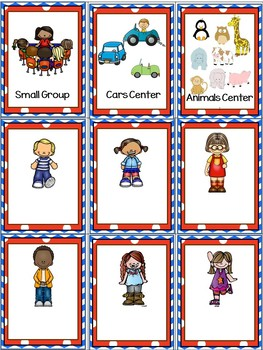 Center Signs With Objectives and Editable Management Cards ~Under the Sea
