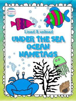 Under the Sea Ocean Nametags