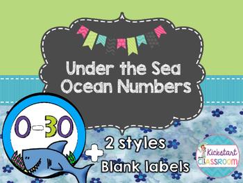 Under the Sea Ocean Number Labels