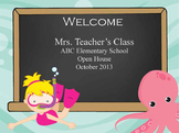 Under the Sea Ocean - PowerPoint, Open House, Curriculum Night, Meet the Teacher