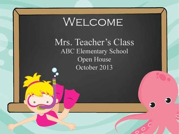Under the Sea Ocean - PowerPoint, Open House, Curriculum Night, Meet the Teacher