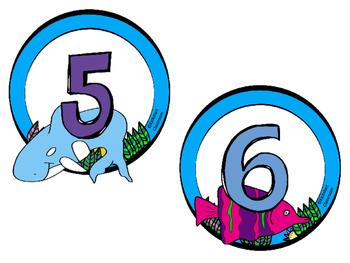 Under the Sea Ocean Table Numbers