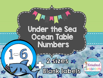 Under the Sea Ocean Table Numbers