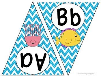 Under the Sea Ocean Theme ABC Word Wall Pennant Banner